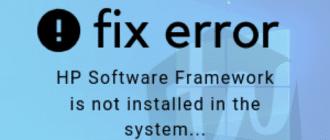 hp software framework
